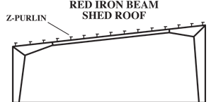 Red Iron Beam Shed Roof