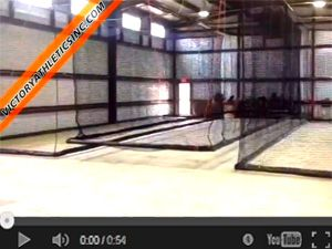 Motorized Indoor Retractable Batting Cage
