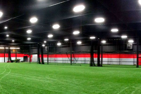 walk draw indoor batting cage