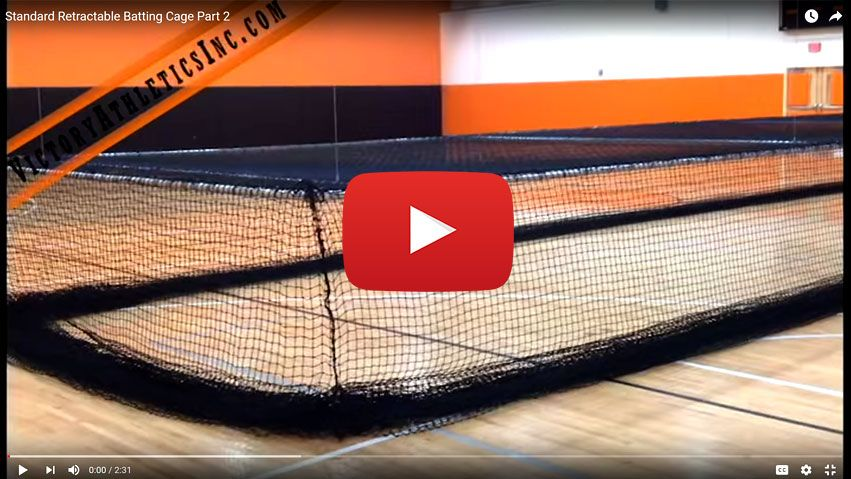 Standard Retractable Batting Cage Netting